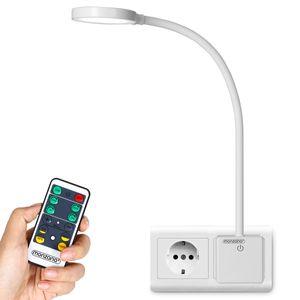 monzana® LED Steckerlampe Steckdosenlampe Steckerleuchte Schreibtischlampe Lampe, Größe:48cm mit Fernbedienung