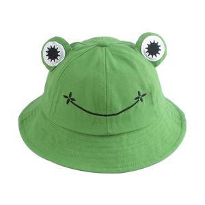 Netter Frosch Eimer Hut Fischer Sonne Eimer Hut Breite Krempe Sommer Reise Strand Hut für Kind Jungen Mädchen
