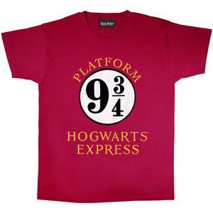 Harry Potter - T-Shirt für Herren PG481 (XL) (Burgunderrot/Weiß)