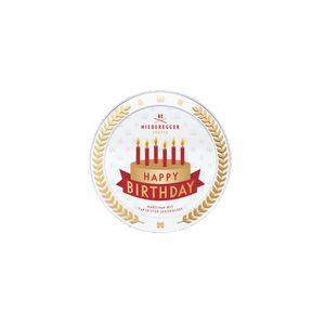 Niederegger Marzipan mit Zartbitterschokolade Happy Birthday Dose 185g