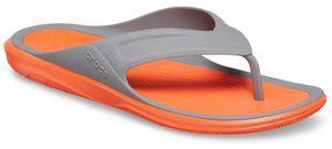 crocs Swiftwater Wave Flip Men Slate Grau / Tangerine Croslite Größe: 48/49 Normal