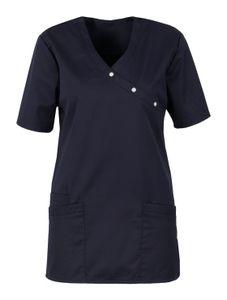 Größe XXL beb Damen Kasack Schlupfkasack Kurzarm Dunkelblau Blue Shadow 50 % Baumwolle 50 % Polyester