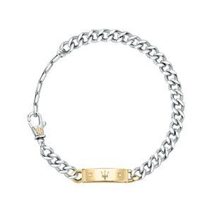 Maserati Herren Armband, JEWELS Kollektion, aus Edelstahl, Gelbgold PVD, Diamanten - JM221ATY07