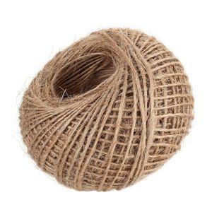 100M natürliche Hanfschnur Jute-Schnur-Seil für Kunsthandwerk DIY Geschenkverpackung Hochzeit Geburtstag Baby-Dusche Dekoration Garten Ornament