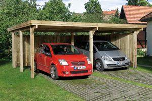 Doppelcarport Weka 618 Gr.1 Holz kdi + Kunststoff 603x512cm