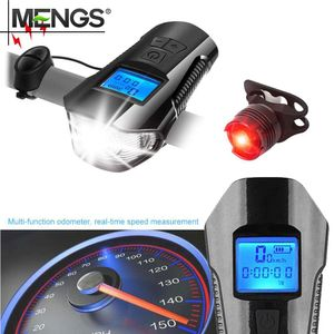 Helle LED Fahrradbeleuchtung Fahrradlicht Fahrradlampe Set + Rücklicht USB Aufladbar NEU