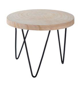 Blumentopfständer - Tisch mit Baumscheibe (klein) - ca. 23 x 18 cm