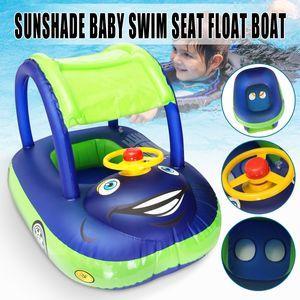 Baby Kids Float Seat Boat Aufblasbarer Schwimmschwimmring Wasserpool Babyschwimmring
