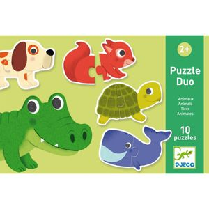 DJECO Lernspiele: Puzzle duo/trio: Tiere
