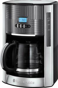 RUSSELL HOBBS Kaffeemaschine Geo Steel 25270-56 Digital Glaskanne Timer 12 Tassen