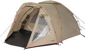 High Peak Kuppelzelt mit Vorbau 4 Personen, Hochwertige 190T Polyester PU, atmungsaktiv, tragbares Zelt, wasserdicht 3.000 mm, einfacher und schneller Aufbau, Toskana Oliv