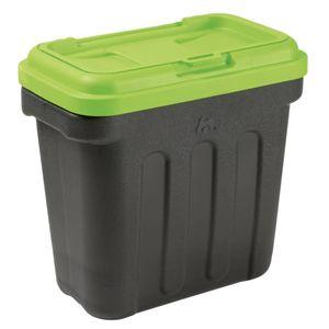 MAELSON Tierfutterbehälter 7,5 kg Schwarz und Grün