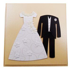 DeCoArt... 1 schlichte Umschlagkarte Hochzeitspaar Zur Hochzeit zum Selberbeschreiben 15 x 15 cm