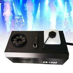 1500W DMX Nebelmaschine 9 LED RGB 3in1 Bühnenlicht Vertikal Rauchmaschine Fernbedienung DJ Party Club Disco Effekt