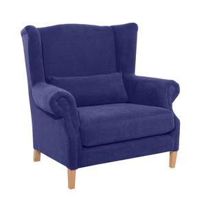 Max Winzer Harvey Big-Sessel - Farbe: blau - Maße: 115 cm x 95 cm x 117 cm; 30001-1100-2051708-F01