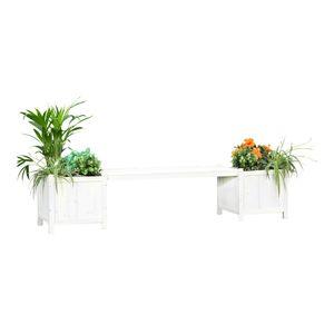 2in1 Gartenbank mit 2 Blumenkästen Holzbank Blumenkasten Holz Garten Bank M01