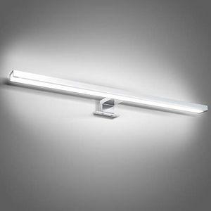 karpal LED Spiegelleuchte 6W Weiss Spiegellampe IP44 Mit Schalter Badezimmerlampe 30CM 4000K 600LM Fuer Badezimmer Schminktisch Schlafzimmer¡