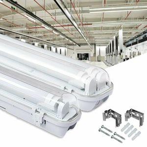 Wolketon LED Feuchtraumleuchte Wannenleuchte Leuchtstoff Tageslicht Werkstatt IP65 9W