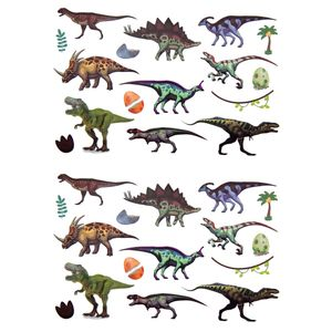 Oblique Unique Temporäre Klebetattoos Kinder Dinosaurier Tattoo Set - Dino Motive