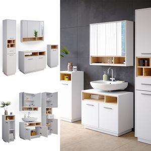 Vicco Badmöbel Badezimmermöbel Beatrice Spiegelschrank Waschtisch Hochschrank