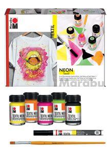 Marabu Textil Neon Set 5 x 15 ml auf Wasserbasis