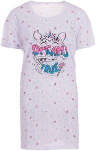 Romesa Big Shirt Teen Nachthemd Schlafshirt Größe S M L XL XXL 3XL, Größe:3XL, Farbe:Weiß