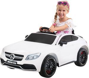 Kinder-Elektroauto Mercedes AMG C63 Lizenziert (Weiß)