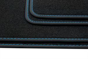 Premium Fußmatten für BMW i3 I01 ab Bj. 2013-2020, Naht:Blau