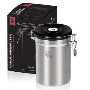 Kaffeedose aus Edelstahl - Vakuum-Deckel und Aromaverschluss - Coffee Fox - Groß XL