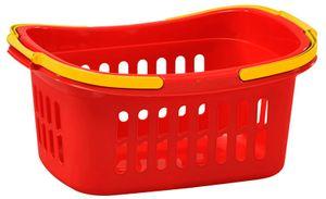 Einkaufskorb Plastik Kunststoff Korb Einkaufskörbe 50 x 35 x 24 cm Rot