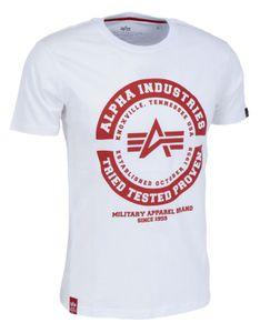 Alpha Industries Herren T-Shirt TTP weiß L