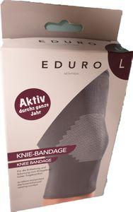ENDURO Knie Bandage für die Entlastung und Schonung vom Kniegelenk - hoher Tragekomfort Größe : L
