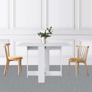 Klapptisch mit praktischer Kofferfunktion  Klapptisch Beistelltisch Schreibtisch Ablagefläche Tisch 103x76x73.4cm Weiß