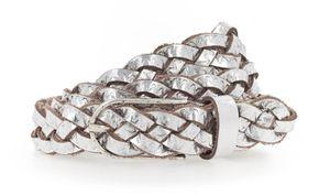 Vanzetti Braided Women's Belt W110 Silber Metallic