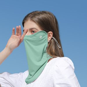 UV-Schutz Gesichtsschutz im Freien Atmungsaktive staubdichte, verstellbare Halsmanschette mit Ohrbuegel zum Laufen Wandern Radfahren