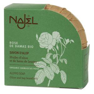 Najel Aleppo Olivenöl Seife mit biologischem Damaskus Rosenöl im 2 er Pack je 100 g