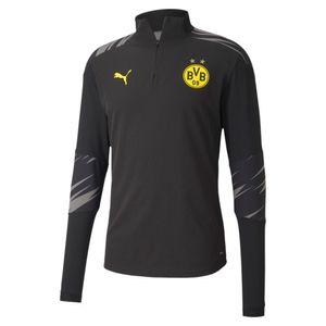 PUMA BVB Borussia Dortmund Stadium 1/4 Zip Sweatshirt puma black/asphalt/home L
