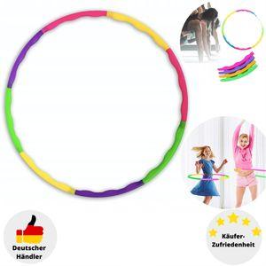 Kinder Hula Hoop Reifen 8-teilig Hüftmassage Sport Fitness Gymnastik Spielzeug