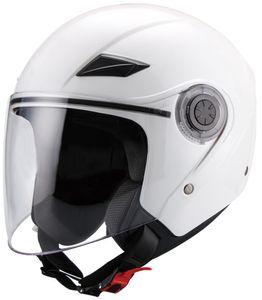 Jethelm 702 Motorradhelm Helm Größe M weiß Langvisier Rollerhelm Sturzhelm