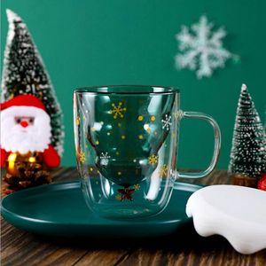 Weihnachtsbaum Stern Wunschbecher Doppelwand Glas Latte Becher