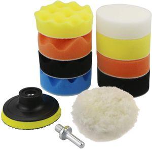 Autopolierschwamm, Autopolierpad-Set Schwamm- und Wollpolierpad Bohrer-Polierset für Schleifmaschine Poliermaschine