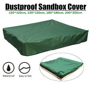 Grün Sandkastenplane Sandkastenabdeckung Abdeckplane Sandkasten Mit Kordelzug 150*150cm