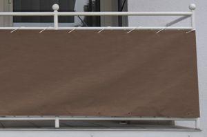 Angerer Balkonbespannung Style 75 cm braun, Länge: 8 Meter