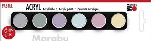 "Marabu Acrylfarben-Set ""PASTELL"" 6 x 3,5 ml"