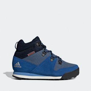 adidas Snowpitch C.RDY K Winterstiefel Schneeschuhe Stiefel Schuhe Blau, Größe:39