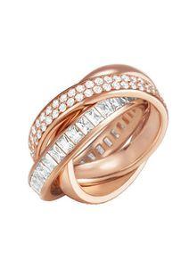 Esprit Damen Ring Edelstahl Rosé Tridelia Zirkonia ESRG02258C1, Ringgröße:57 (18.1 mm Ø)