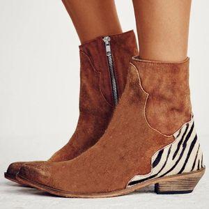 Damen Damen Herbstschuhe Mode Mixed Colors Knöchel Einzelschuhe Kurze Stiefel Größe:39,Farbe:Braun