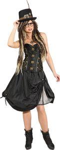 Damen Kostüm Steampunk Korsage mit Häkchen Karneval Fasching Gr.L
