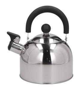 Wasserkessel EDELSTAHL Flötenkessel Teekessel Wasserkocher Silbern 2 L