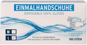 Einmalhandschuhe Vinyl L 100er